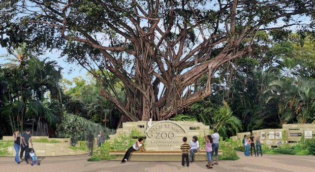 Palm Beach Zoo Entry Plaza